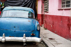 Old Vintage blue car Royalty Free Stock Photo