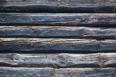 Old vintage blue log wall background. Close up of old vintage blue log wall background stock photography