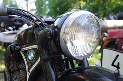 Old vintage BMW motorcyle Stock Photography