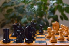 Old vintage board game chess Royalty Free Stock Images