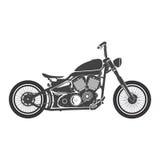 Old vintage bobber bike. cafe racer theme. Old vintage motorcycle. retro bobber motorbike. vector illustration Royalty Free Stock Photo