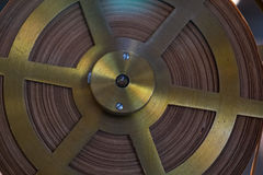 The old and vintage bobbin of a electrical telegraph Royalty Free Stock Photo