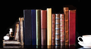 Old vintage books stock photography