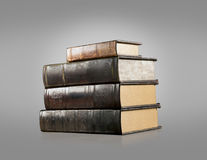 Old vintage books isolated Stock Photo