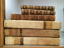 Old vintage books Royalty Free Stock Image