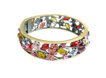 Old vintage bracelet isolated on white background royalty free stock images