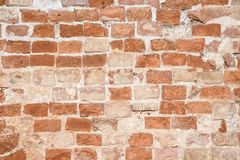 Old vintage brick wall. Background Royalty Free Stock Photo