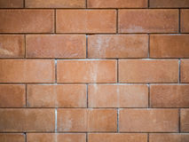 Old vintage brick wall background. Close up Stock Photos