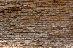 Old vintage brick wall texture background, Venice, Italy. Vintage grunge red brick wall texture with raking light in old town Venice, Italy Royalty Free Stock Photography