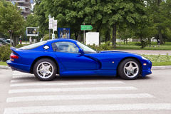 Blue Dodge Viper GTS Royalty Free Stock Photos