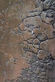 Old vintage brown cracks wall texture as background Stock Image