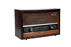 Old vintage brown radio Stock Photo