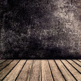 Old vintage brown wood panel tabletop with  Black Abstract color Royalty Free Stock Images