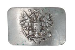 Old vintage buckle from Russian Empire Army Royalty Free Stock Photos