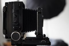 Old vintage camera in artist`s studio royalty free stock images