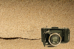 Old vintage camera background Royalty Free Stock Photo
