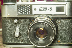 Old vintage camera Fet-5 Stock Image