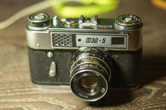 Old vintage camera Fet-5 Royalty Free Stock Photography