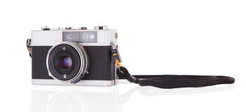 Old vintage camera isolated Royalty Free Stock Photos