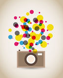 Old vintage camera poster. Abstract background Stock Photography