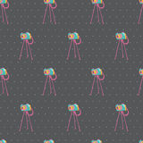 Old vintage camera Seamless Background. Vector illustration. Sea Royalty Free Stock Image