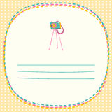 Old vintage camera. Vector illustration card in hipster style. T Royalty Free Stock Photo