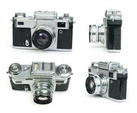 Old vintage camera white  Royalty Free Stock Photos