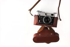 Old vintage camera on the white background horizontal Royalty Free Stock Photos
