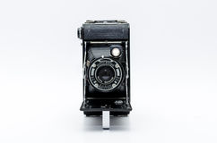 Old vintage camera on white background Stock Image