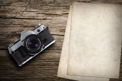 Old Vintage Camera With Old Paper Royalty Free Stock Image
