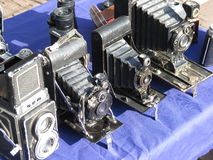 Old vintage cameras Royalty Free Stock Image