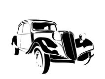 Old vintage car vector illustration