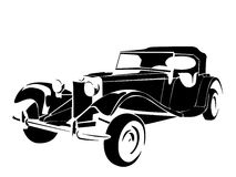 Old vintage car royalty free illustration