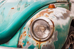 Old vintage car bumper close up. Retro auto. Stock Photography