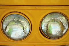 Old vintage car headlights. Royalty Free Stock Photography
