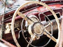 Old vintage car. Royalty Free Stock Image