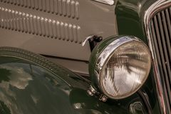 Old vintage car. From front seen stock photography