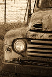 Old vintage car with single light stock image