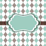 Old vintage card with rhombuses vector illustration
