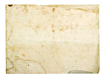 Old vintage cardboard card. Isolated on white background Royalty Free Stock Images