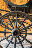 Old vintage carriage wheels Royalty Free Stock Photo