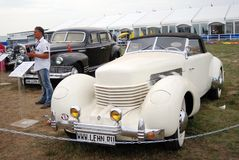Old vintage cars shown at exhibition stock photo