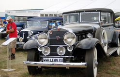 Old vintage cars shown at exhibition Royalty Free Stock Photography