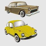 Old Vintage cars vector. Print for poster or t-shirt Stock Images