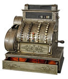 Old vintage cash register Stock Photo