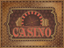 Old vintage casino background with golden money Stock Photos