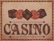 Old vintage casino background Royalty Free Stock Photos