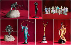 Old vintage ceramic figurines Royalty Free Stock Image