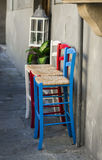 Old vintage chairs outside of Florence Stock Photography