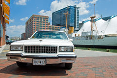 Old vintage Chevrolet parked in Baltimore stock images